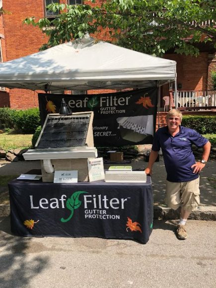 Leaf Filter at the Corn Hill Arts Festival