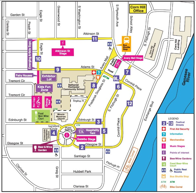 Corn Hill Arts Festival Map